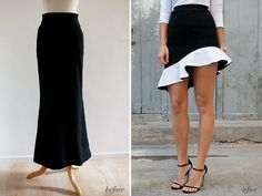 DIY BALENCIAGA INSPIRED RUFFLE SKIRT