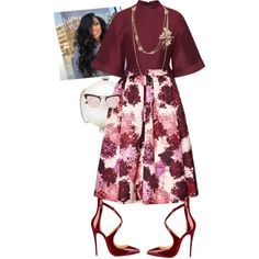 A fashion look from October 2015 featuring dark red shirt, msgm skirt and gianvito rossi pumps. Browse and shop related looks. Church Fashion, Work Fashion, Fashion Outfits, Womens Fashion, Church Attire, Church Outfits, Sunday Outfits, Modest Wear, Elegantes Outfit