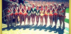 My GHS Majorettes with the UT majorettes