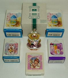 Lot of 6 HALLMARK Easter Spring Ornaments Egg Surprise Chick Bunny Guardian