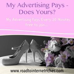 www.roadtointernetriches.com - No matter what your business is - learn how to get paid to advertise it and make a profit by watching a few short videos to see if it is for you....who doesn't need highly targeted traffic to their website though? www.roadtointernetriches.com...