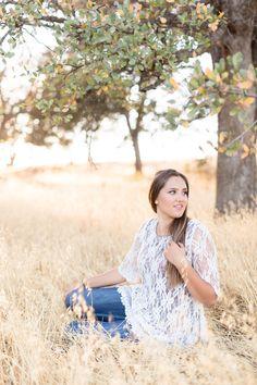 Senior Portrait Sitting in Tall Grass | chico-senior-photography-Session-Portrait-TréCreative