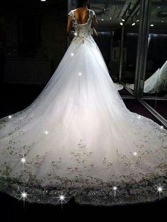 Fairy tale wedding :) love the bottom of the dress. Wedding Dress 2013, Gorgeous Wedding Dress, Dream Wedding Dresses, Wedding Attire, Beautiful Gowns, Wedding Gowns, Wedding Dresses With Bling, Tulle Wedding, Wedding Inspiration