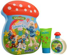 Kids First American Brands The Smurfs Grouchy Gift Set 2 Pc - First American Brands The Smurfs Grouchy Gift Set 2 Pc.Launched By The Design House Of First American Brands. The Nose Behind This Fragra *** You can get additional details at