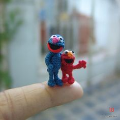dollhouse miniatures Sesame Street - Cookie Monster & Elmo  by LamLinh