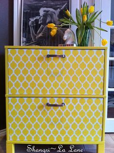 painted ikea file cabinets