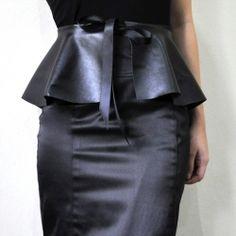 Make a no-sew peplum belt in a few simple steps!