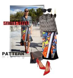 """""""Head-to-Toe Pattern Mixing"""" by ivyargmagno ❤ liked on Polyvore featuring Post-It, Isabel Marant, CÉLINE, Salvatore Ferragamo, 3.1 Phillip Lim, GetTheLook, StreetStyle, patternmixing and styleresolution"""