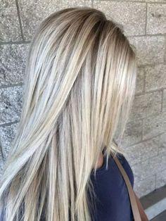 New hair blonde highlights lowlights faces 57 ideas Balayage Straight Hair, Balayage Hair, Straight Layered Hair, Brown Blonde Hair, Thick Blonde Highlights, Blonde Color, Hair Highlights, Beige Blonde, Light Blonde