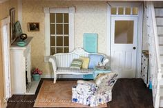 Who, What, Where: Dollhouse Living Room - everything you need to know about the living room and everything in it.