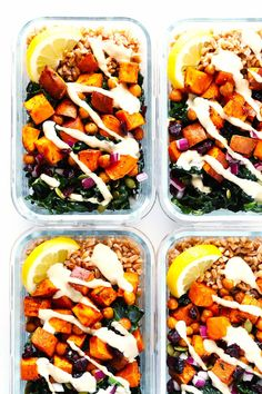 Roasted Sweet Potato, Chickpea and Kale Bowls 19 Easy Lunches With No Meat Or Dairy Lunch Recipes, Whole Food Recipes, Vegetarian Recipes, Dinner Recipes, Cooking Recipes, Healthy Recipes, Vegan Vegetarian, Easy Recipes, Vegan Lunches