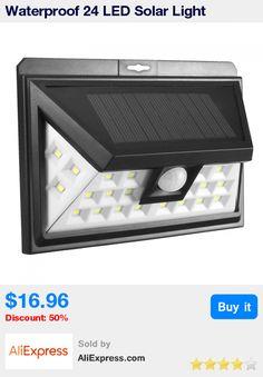 Waterproof 24 LED Solar Light Outdoor LED Garden Light PIR Motion Sensor Security 3 Modes Night Light Emergency Wall Lamp * Pub Date: 13:50 Jul 24 2017