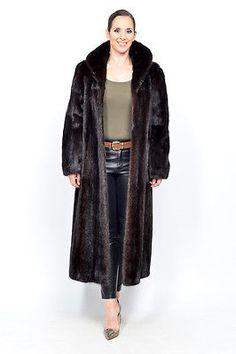 SAGA Mink Fur Coat mahogany black no blackglama nerz vison pele de marta HOPKA