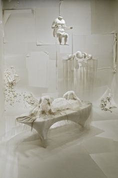 """Installation view of """"Bound Unbound: Lin Tianmiao."""" Artwork: Lin Tianmiao. Mother's!!!, 2008. Polyurea, silk, cotton threads. Dimensions variable. Collection of the artist, courtesy Galerie Lelong. Photo © Michael Bodycomb."""