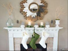 freckles chick: Tis the season: mantel decor