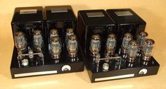 "Carver vacuum tube amplifiers ""Black Beauties"". I built these from my construction design, Bob's schematic diagram."