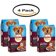 PACK OF 4 - Kibbles 'n Bits Bistro Oven Roasted Beef Flavor Dry Dog Food, 17.6-lb Bonus Bag @@ You can click image for more details. (This is an affiliate link and I receive a commission for the sales)