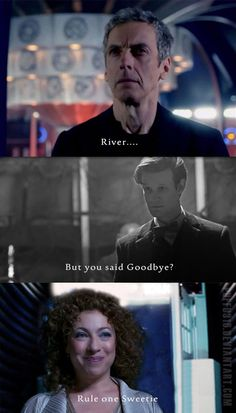 Twelve x River Song = Rule One by Puffu316 on DeviantArt ~~ ksc I would freaking die if this happened, but it would be a happy one! ♥♥