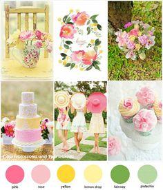 Ideas for wedding flowers yellow green color inspiration Pink Yellow Weddings, Yellow Wedding Flowers, Pink Wedding Theme, Wedding Themes, Wedding Colors, Wedding Blog, Wedding Ideas, Green Weddings, Dream Wedding
