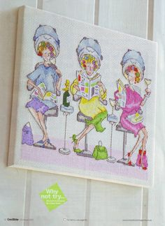 Time To Relax (Bothy Threads, Bernie Parker,  Ladies Who Lunch Series) From Cross Stitcher N°192 Christmas 2007 1 of 4