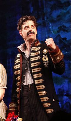 """Christian Borle's inner monologue: """"Yes! I'm awesome! And I can rock a stache!"""""""