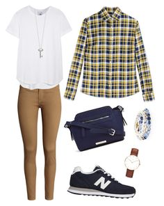 """Weekend Casual"" by istring on Polyvore featuring H&M, Stella Jean, New Balance, White House Black Market, Iris & Ink, Liz Claiborne and Roberto Coin"