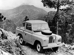 Series II 88in truck-cab - note British Columbia number plate