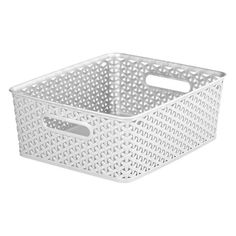 "5.24 "" H x 11.65 "" W. Room Essentials™ Y Weave Storage Bin - Winter White Medium"