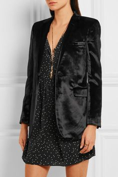 Black velvet Button fastenings through front 73% viscose, 18% cotton, 9% silk; lining: 100% silk Dry clean Made in Italy