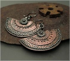 E1119 Layered Medallion Earrings by Experimetal on Etsy