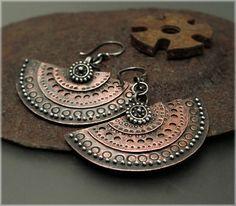 E1119 Layered Medallion Earrings by Experimetal on Etsy