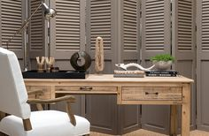 Desk // The Private House Company Office Interior Design, Interior Decorating, House Rooms, Interior Inspiration, Sweet Home, Desk, Furniture, African Safari, Interior Design Offices