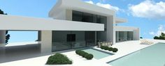 MODERN VILLAS for sale - Luxury contemporary villas and real estate in Marbella, Cannes, Vilamoura, Dubai Modern Residential Architecture, Minimal Architecture, Architecture Design, Villas, Modern Villa Design, My House Plans, Mansion Interior, Luxury Homes Dream Houses, Modern Mansion