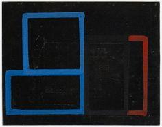 """Mario De Brabandere: """"zonder titel"""", 2011, olieverf op linoleum op paneel, 35 x 45 cm."""