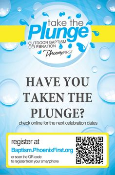 Take the Plunge - Outdoor Baptism Invite card