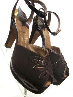 Brown 40's heels
