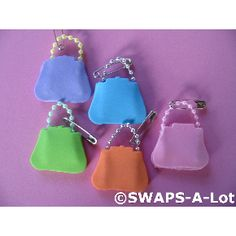 Girl Scout Swaps - Purses. Felt or fun foam, string beads or a pipe cleaner.