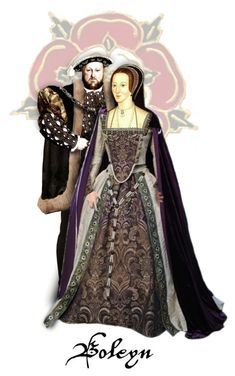 """Henry Tudor & Anne Boleyn"" by annette-heathen ❤ liked on Polyvore featuring art, royalty, history and Britain"