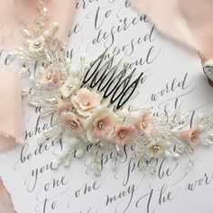 Wedding hair piece flower bridal comb Headpiece bridal hair
