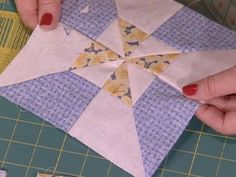 quilt block patterns | How To Make a Double Pinwheel Quilt in a Day : Archive : Home & Garden ... by tabitha