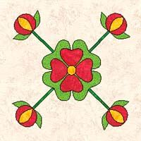 Rose of Sharon Quilt Pattern Flower Applique Patterns, Barn Quilt Patterns, Hand Applique, Pattern Blocks, Applique Ideas, Old Quilts, Antique Quilts, Denim Quilts, Traditional Quilt Patterns