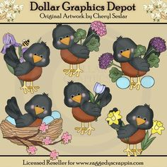 Little Robins - Springtime - $1.00 : Dollar Graphics Depot, Your Dollar Graphic Store