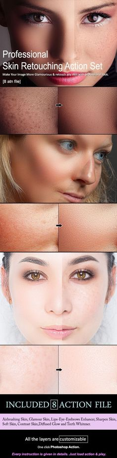 Skin Retouching Action Set [8 Action] - Photo Effects Actions Download here: https://graphicriver.net/item/skin-retouching-action-set-8-action/20120852?ref=classicdesignp