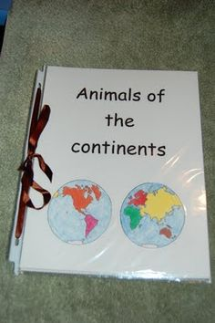 Animals of the continents, great after reading Amy's Travels, which explores animals on all seven continents
