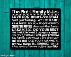 SALE Personalized Wooden House Rules Family Sign by GiftsForIt