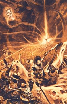 Dark Fantasy, Fantasy Battle, Sword And Sorcery, Tomb Kings, Dark Fantasy Artwork, Chiaroscuro, Warhammer Fantasy Battle, Warhammer Tomb Kings, Angel Art