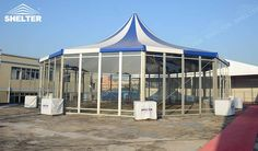 provides exquisite selections of polygonal tents with high peak pagoda-like roof and multi-sides walls produce six sides up to 30 sides tent like hexagon tent, eight sides octagon tent, decagon,dodecagon etc Marquee For Sale, Outdoor Events, Outdoor Decor, Six Sides, A Frame Tent, Shelter Tent, Marquee Wedding, Tents, Gazebo