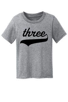 Toddler Birthday Shirt, Birthday T-Shirt, Boy's, Girls, Toddler Tee, Toddler T-Shirt, Three Year Old, Little Boys, Little Girls, Unisex