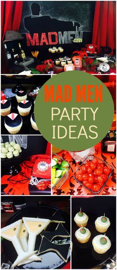 Check out this fantastic 60's inspired Mad Men party! See more party ideas at CatchMyParty.com!