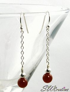 Carnelian Gemstone Drop Earrings